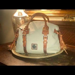 Dooney & Bourke grey pebble leather large satchel